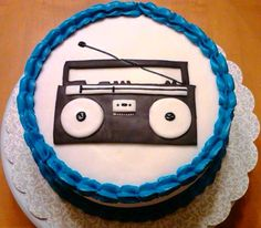 Boombox cake