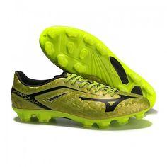 Mizuno Basara 001 TC мужчины Boots FG желтый золотой черный футбольные  бутсы для игры на твердом