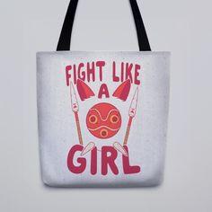 Bolso Fight Like a Girl. | 47 Productos completamente adorables de Studio Ghibli que necesitas inmediatamente