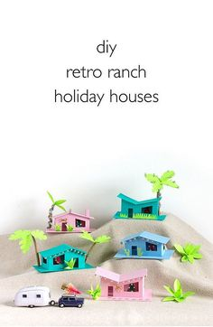 DIY Retro Ranch Holiday Houses   Click through for the tutorial and two free templates! www.vitaminihandmade.com