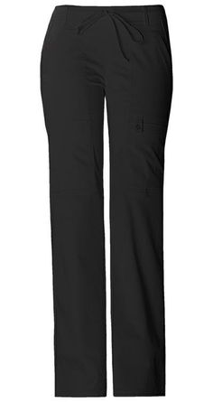 Cherokee Luxe Junior Style Cargo Pant. Style Number: 21100 Color: Black. Available in 17 colors and in Petite at statapparel.com!