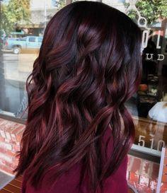 Short Burgundy Hair, Red Brown Hair, Dark Hair, Burgundy Hairstyles, Black To Red Hair, Maroon Hair, Ash Brown, Burgundy Balayage, Blonde Balayage