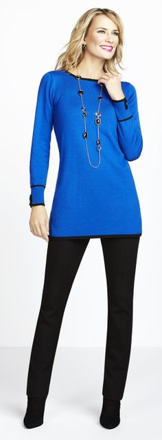 Cleo -  Tipped Tunic Sweater