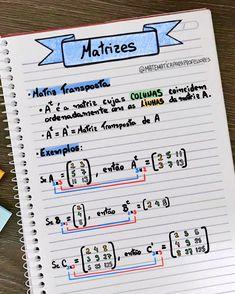 📚📝 Matrizes 📚📝 Noções básicas de matrizes. Vamos estudar e revisar, já que sábado também é dia!!!! . . . . #matriz #matrizes #enem… Medicine Notes, Mental Map, I Love School, Math Notes, Study Organization, Exam Study, Lettering Tutorial, Math Notebooks, Study Hard