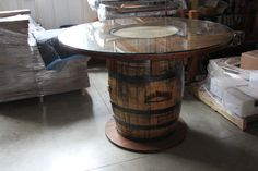 Awesome Jack Daniels barrel table