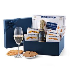 Discover the everyday indulgence of Jules Destrooper Belgian biscuits paired with sparkling Cava from Spain in an elegant gift box.