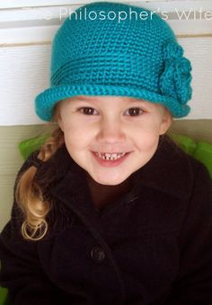 The Philosopher's Wife: Another Crochet Project: Mint Blue Elegant Hat
