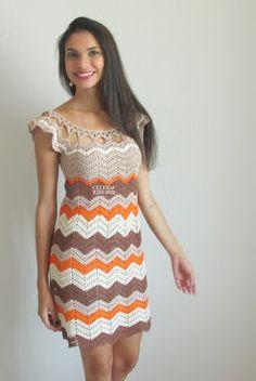 Seaside Dress pattern by Moon Eldridge Crotchet Dress, Crochet Blouse, Knit Dress, Knit Crochet, Dress Patterns, Crochet Patterns, Cocktail Gowns, Crochet Woman, Vintage Crochet
