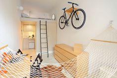 Jurnal de design interior - Amenajări interioare : Amenajare minimală într-o garsonieră de 13 m²