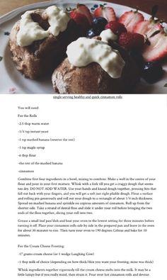 Single serving healthy & quick cinnamon rolls