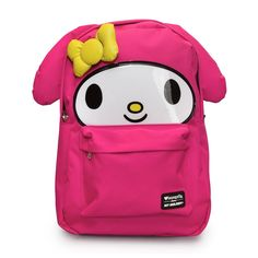Hello My Melody Large Face Backpack - Loungefly - Hello Kitty - Backpacks  at Entertainment Earth 21dd79b6d72b5