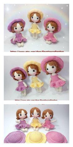 Doll Amigurumi Free Pattern, Crochet Amigurumi Free Patterns, Amigurumi Doll, Crochet Doll Tutorial, Crochet Doll Clothes, Little Doll, Crochet Projects, Creations, Rag Dolls