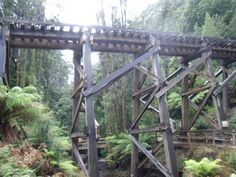 Wooden Railroad Trestles | Bridges: Old Wooden Bridges