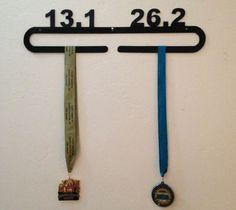 Runner Medal Holder Wall Display (half marathon, marathon, 13.1, 26.2, race)