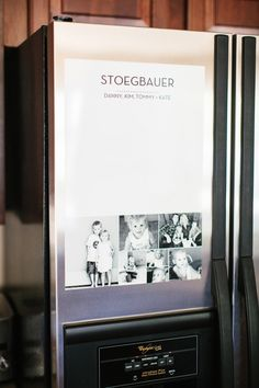 Make yourself a Shutterfly dry-erase decal for the kitchen. Personalize it with your family photos. #ShutterflyDecor Follow Kim on Pinterest at http://www.pinterest.com/tomkatstudio/ for more great ideas.