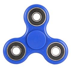 Blue Fidget Spinner Glow in the Dark Silicone Tri-Main Spinner ABS Roulement Jouet