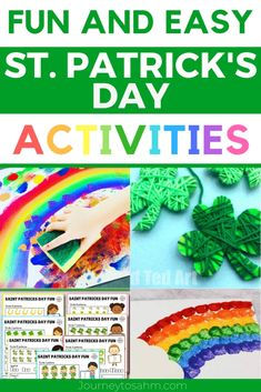 Patrick's Day sensory play activities and crafts for kids. Go on scavenger hunts in the preschool classroom with Leprachauns and a pot of gold. These holiday ideas are great for St. Patty's day and includes free printables! Preschool Craft Activities, Preschool Art Projects, Classroom Crafts, Spring Activities, Preschool Activities, Preschool Learning, Educational Activities, St Patricks Day Crafts For Kids, Crafts For Kids To Make