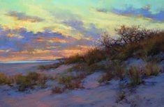 Until Tomorrow by Lana Ballot, Pastel, 12 x 18 Watercolor Landscape, Landscape Art, Landscape Paintings, Seascape Paintings, Pastel Paintings, Sea Art, Animation, Pastel Art, Beach Canvas