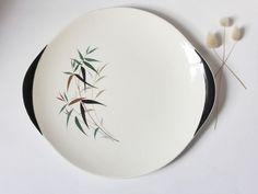 Vintage Royal Doulton Bamboo Plate  ~ Vintage Serving Plate ~ Kitsch ~ Retro Kitchen Decor ~ 1960s Kitchen ~ Tiki Bar