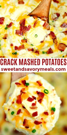 Crack Mashed Potatoes are simply addicting! #crackmashedpotatoes #mashedpotatoes #sidedish #sweetandsavorymeals