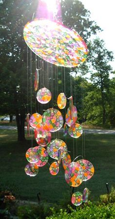 Make sun catcher from molten bead.