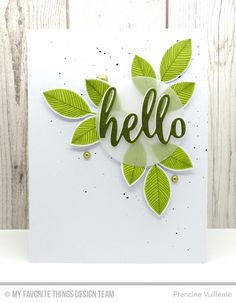 Card by Francine Vuilleme (051716) using My Favorite Things (dies) Die-Namics Flashy Florals, Thanks & Hello; (stamps) Flashy Florals [fresh]