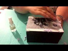 Como transferir imagen a madera con cola blanca - YouTube