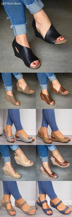 SHOP OFF! 20 Comfy Wedge Sandals Shoes Picks for Your Daily Outfits. Best Picture For Outfit formales For Your Taste You are looking for something, and it is going to tell you exactly what yo Comfy Shoes, Cute Shoes, Me Too Shoes, Wedge Sandals, Shoes Sandals, Heels, Xl Mode, Mode Hippie, Fashion Shoes
