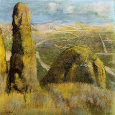 пейзаж, Пастель по Edgar Degas (1834-1917, France)