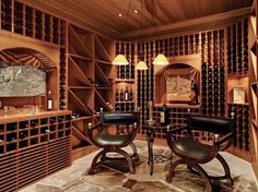 Building a wine room: 16 beautiful wine storage design ideas Bar Sala, Wine Cellar Basement, Home Wine Cellars, Wine Cellar Design, Wine Tasting Room, Cigar Room, Enchanted Home, Storage Design, Wine Storage