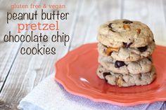 Peanut butter pretzel cookies (gluten free and vegan) - Ask Anna