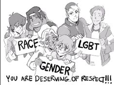 Ok there is a huge amount of hype around this pic such as since Lance is holding the LGBT sign and Shiro has his hand on Lance's shoulder, does that mean Lance is LGBT and Shiro's gonna help him through coming out and stuff????? (Excitement)
