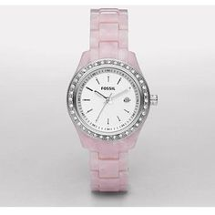 #Fossil #Stella Resin Watch - Pearlized #Pink              http://amzn.to/HYggpf