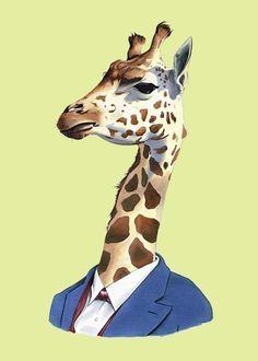 Giraffe print 5x7 van berkleyillustration op Etsy, $10.00