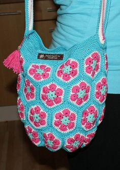 My first African Flower bag! by Handmade By Hindrikes, via Flickr