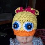 So so so cute! Free pattern to make your child their own crocheted duck hat!