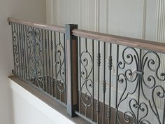 Elegant And Modern Interior Wrought Iron Railings For Stairs Buy Images Of Int Stair Railing Ideas Buy Elegant Images Int interior iron modern Railings Stairs Wrought balkon minimalis Interior Stair Railing, Wrought Iron Stair Railing, Wrought Iron Fences, Balcony Railing, Railing Design, Fence Design, Iron Railings, Railing Ideas, Fence Ideas