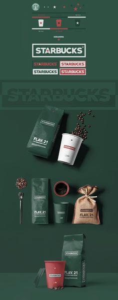 Simon Waloszek, diseñador y director de arte que actualmente reside en Dubai, decidió crear como proyecto personal (y por pura diversión) un rebranding para Starbucks. Este proyecto trata de crear un balance perfecto entre entre