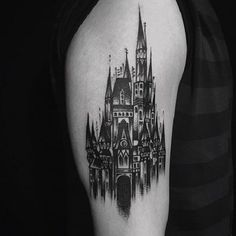 Regardless to mention, Castles have been around since many centuries. Although, the castle tattoos are not that mainstream, however, they have been in fashion a Piercing Tattoo, I Tattoo, Cool Tattoos, Building Tattoo, Medieval Tattoo, Handpoked Tattoo, Castle Tattoo, Architecture Tattoo, Gothic Tattoo