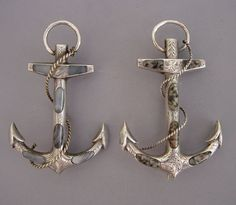agate anchor brooches