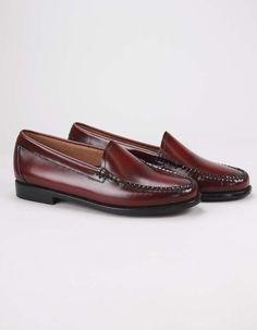 H Bass Lillian loafers in wine/burgundy have leather uppers and outsoles. Bass, Burgundy, Footwear, Loafers, Wine, Clothing, Leather, Shoes, Fashion