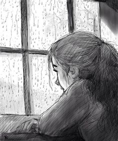 Latest Images sad drawing rain Ideas : Digital pulling tools, older shading training books, painting them occasions in bars. Fine art can be getting a comebac Sad Sketches, Girl Drawing Sketches, Sad Drawings, Dark Art Drawings, Pencil Art Drawings, Sketch Painting, Drawing Ideas, Art Triste, Drawing Rain