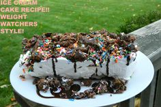 Delicious and Easy Ice Cream Cake Recipe…Weight Watchers Friendly!!  #SmarterTreats #Sponsored