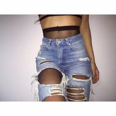 SHOP | @caitlinheathxo | Riot High Rise Extreme Rip Mom Jeans in Antique Blue