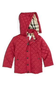 Burberry Quilted Coat (Baby Girls) available at #Nordstrom