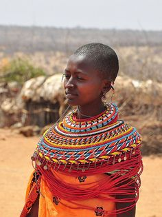 Young Samburu Woman. Love, love these colors. Magnificent. This is why designers (fashion and interior designers) look to African, Asian and Indian culture for inspiration. Biddy Craft