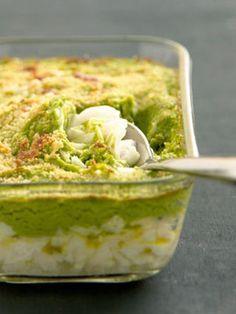 Gratin de cabillaud à la purée verte : la recette facile