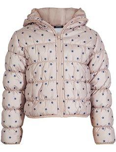 Donsjack met capuchon en sterren Kinderkleding meisjes - Kiabi - 10,00€