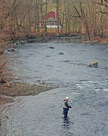Moodna Creek is a small tributary of the Hudson River that drains eastern Orange County, New York. At 15.5 miles (25 km) in length from its source at the confluence of Cromline Creek and Otter Kill west of Washingtonville, it is the longest stream located entirely within the county.