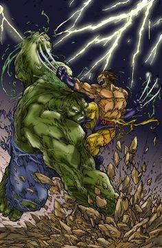 Hulk vs Wolverine  | Hulk vs Wolverine original by Pant by MrFixit741 on deviantART
